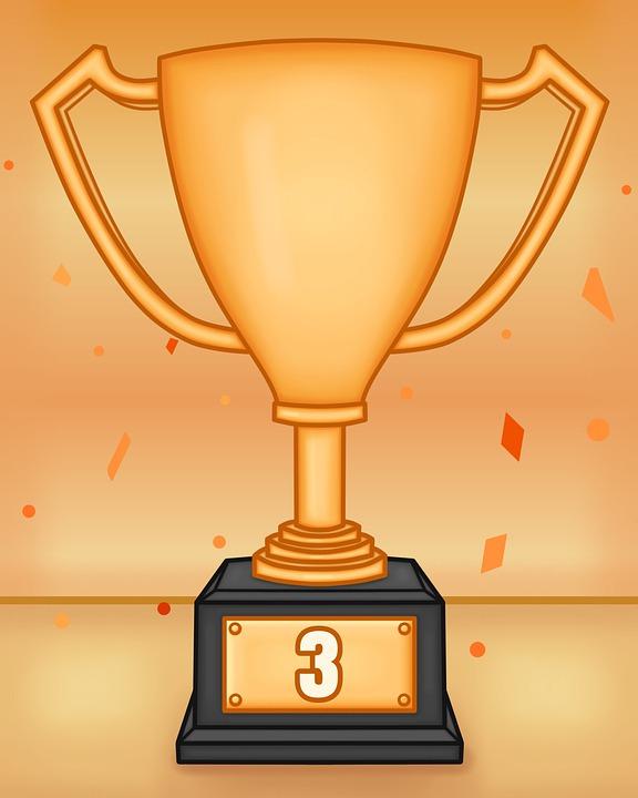 Trophy, Third Place, Cup, Bronze, Winner, Bronze Trophy