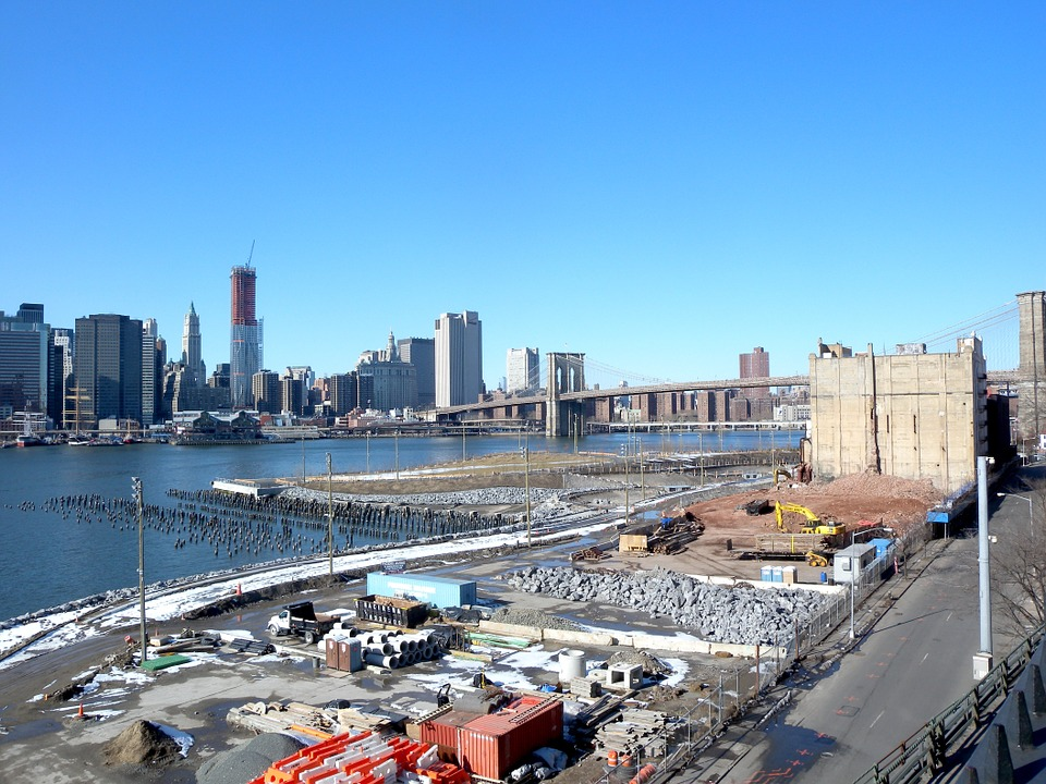 Construction Site, Brooklyn Bridge Park, Promenade
