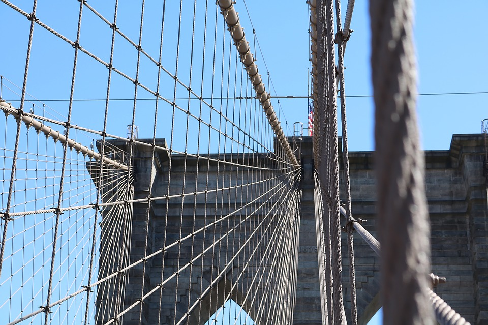 Brooklyn Bridge, New York, America, Usa