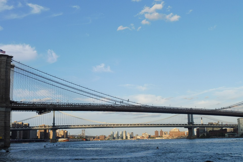 Brooklyn, Bridge, City, Manhattan, Architecture