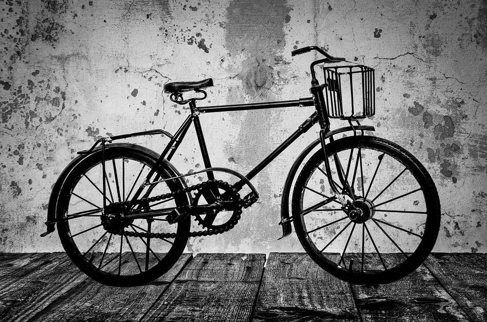 Old, Bike, Street, White, Brown, Black, Classic