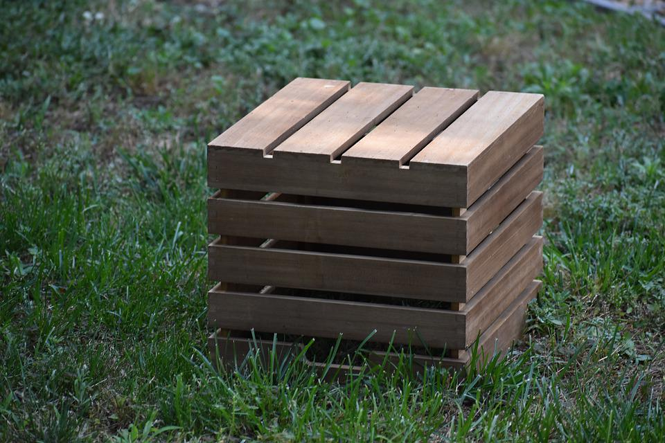 Crate, Milk Crate, Bin, Box, Container, Shapes, Brown