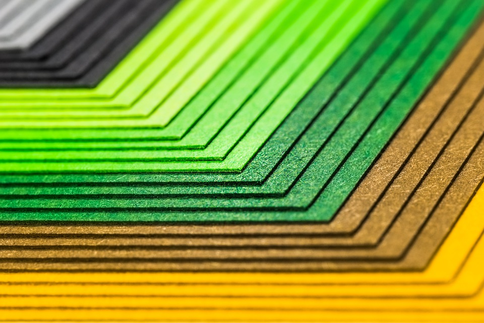 Colorful, Paper, Color, Tinker, Green, Brown, Yellow
