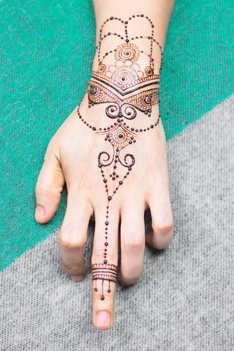 Girl, Hand, Henna, Bridal, Brown, Cosmetic, Design