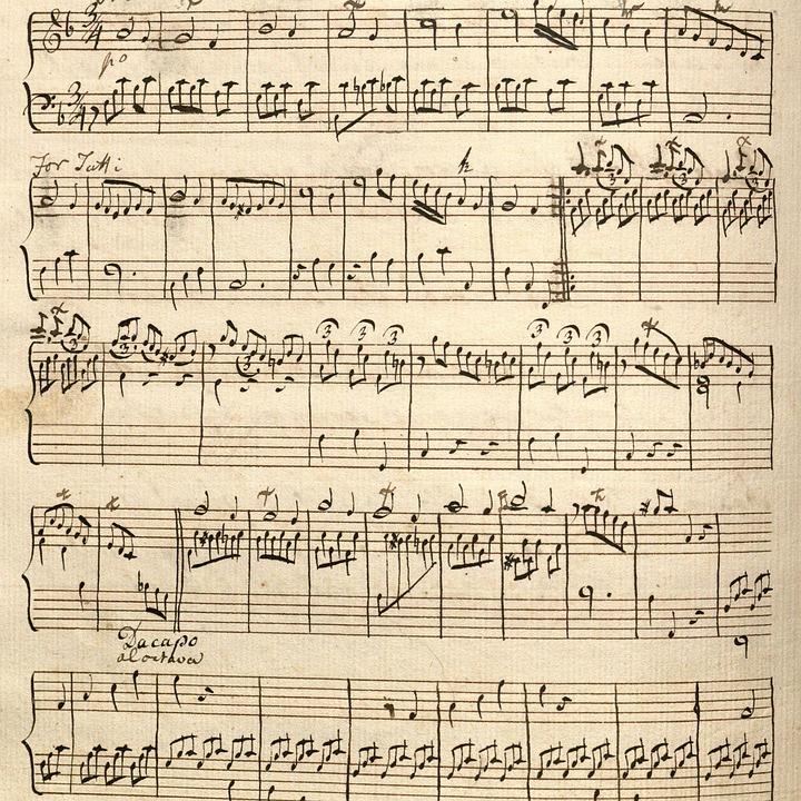 Print, Paper, Vintage, Pattern, Old, Music, Brown Music