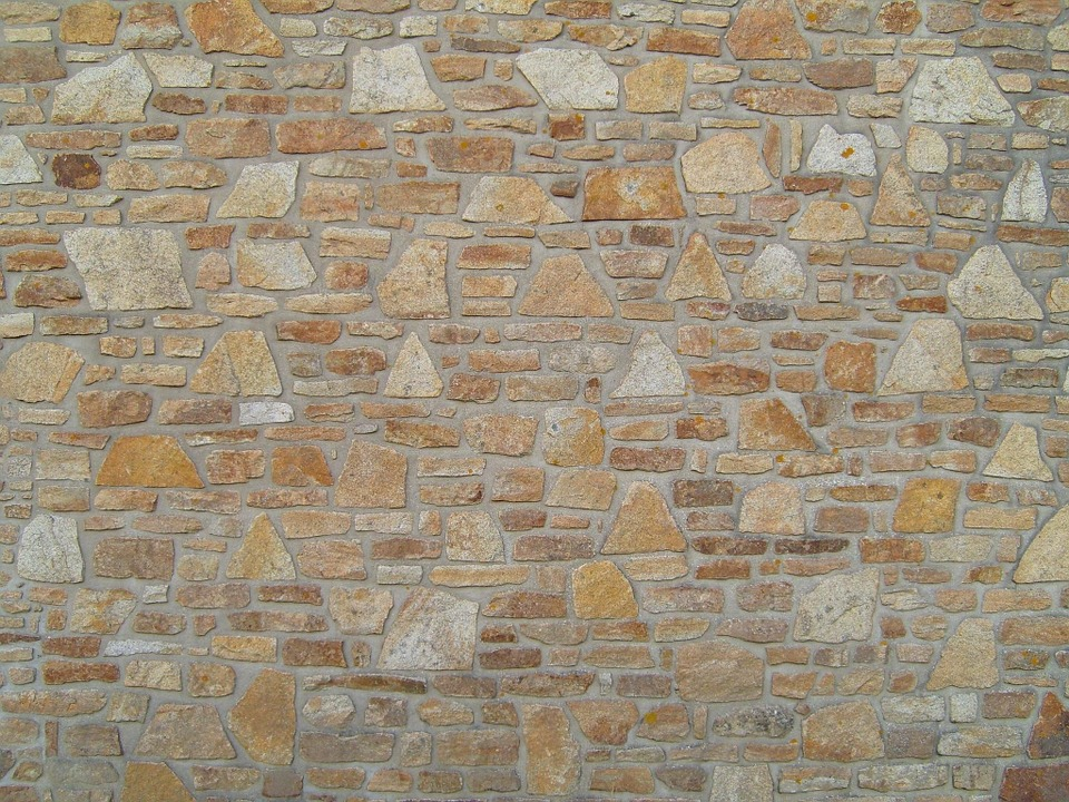 Wall, Stone, Masonry, Texture, Pattern, Rough, Brown