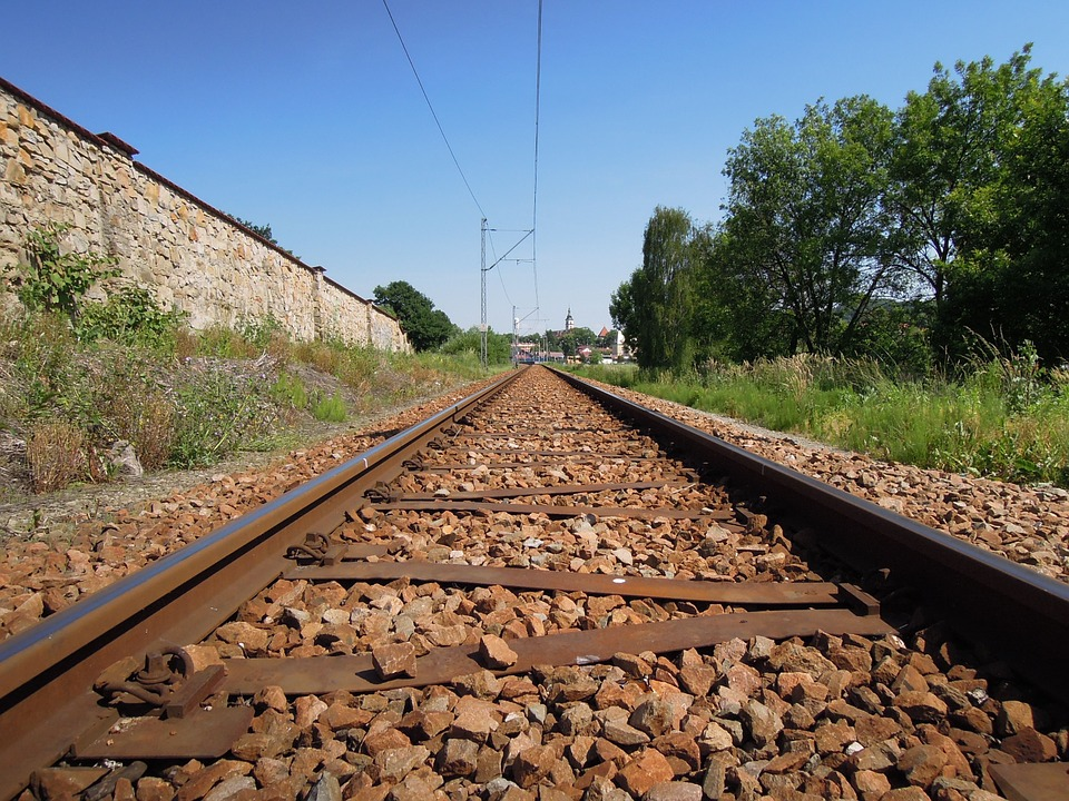 Railway, Track, The Land, Stone, Brown, Summer