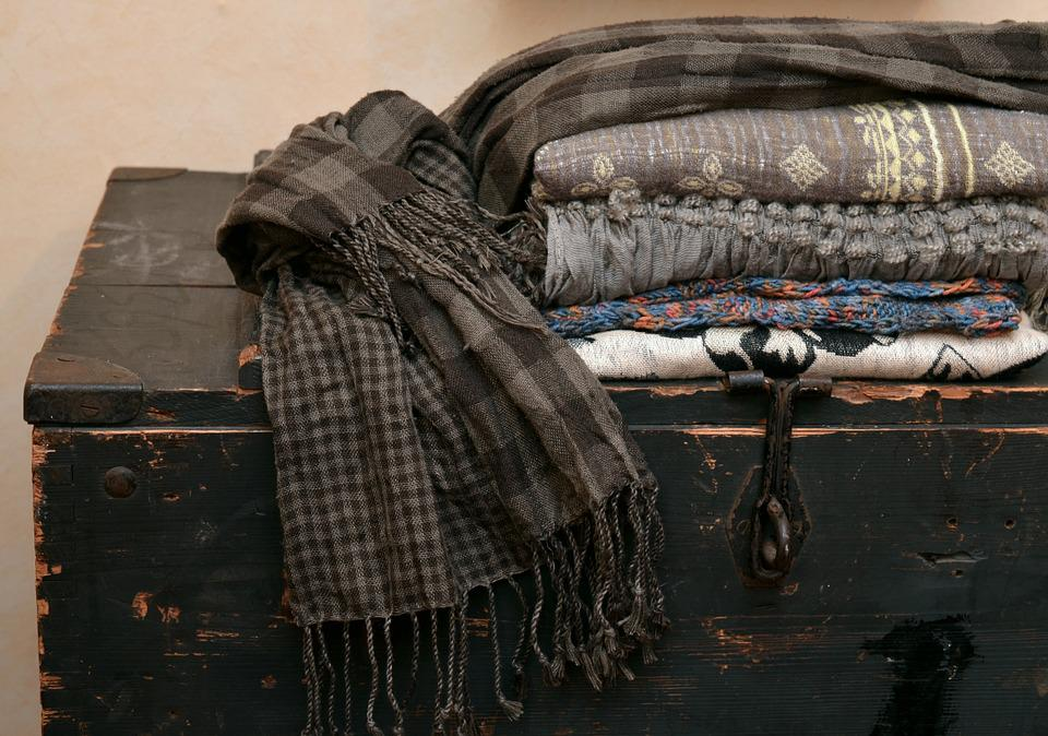 Scarves, Textiles, Fabric, Box, Scarf, Purry, Brown