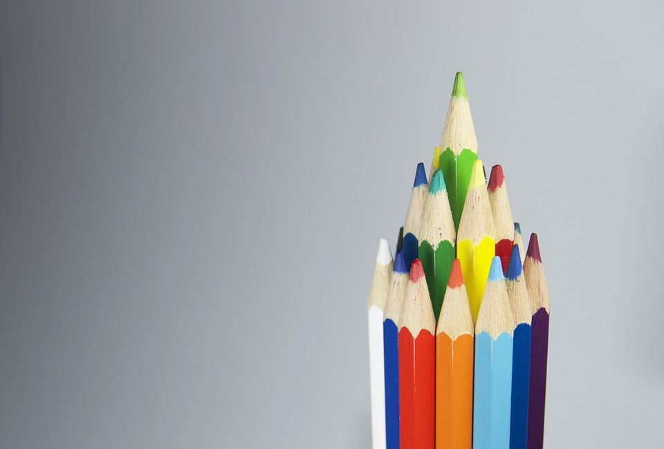 Pencil, Color, Colorful, Green, Tool, Row, Acute, Brown
