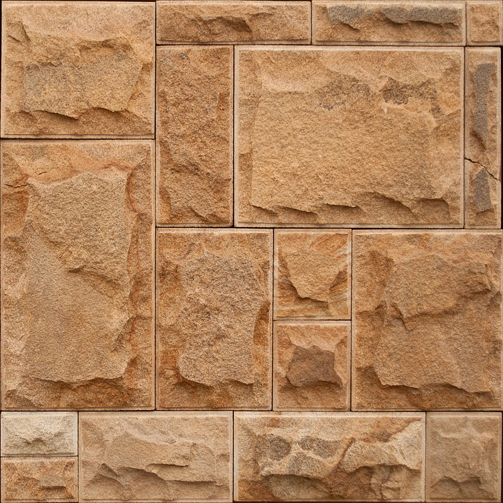 Stone, Brown, Asymmetry, Wall, Texture, Background