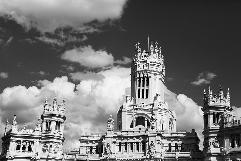 Bruges, Council, City, Belgium, Castle, Black And White