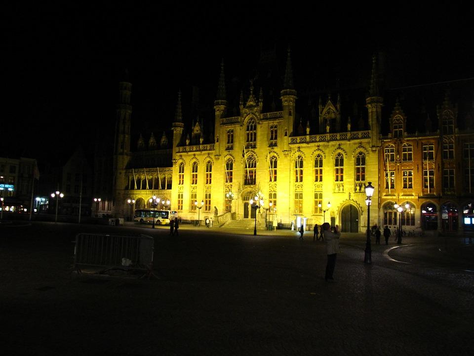 Bruges, Town Hall, Market