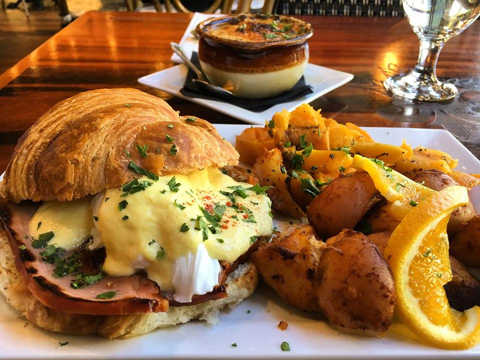 Brunch, Bistro, Benedict, Food, Dining, French Food