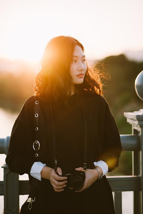 Girl, Portrait, Female, Photographer, Brunette, Asian
