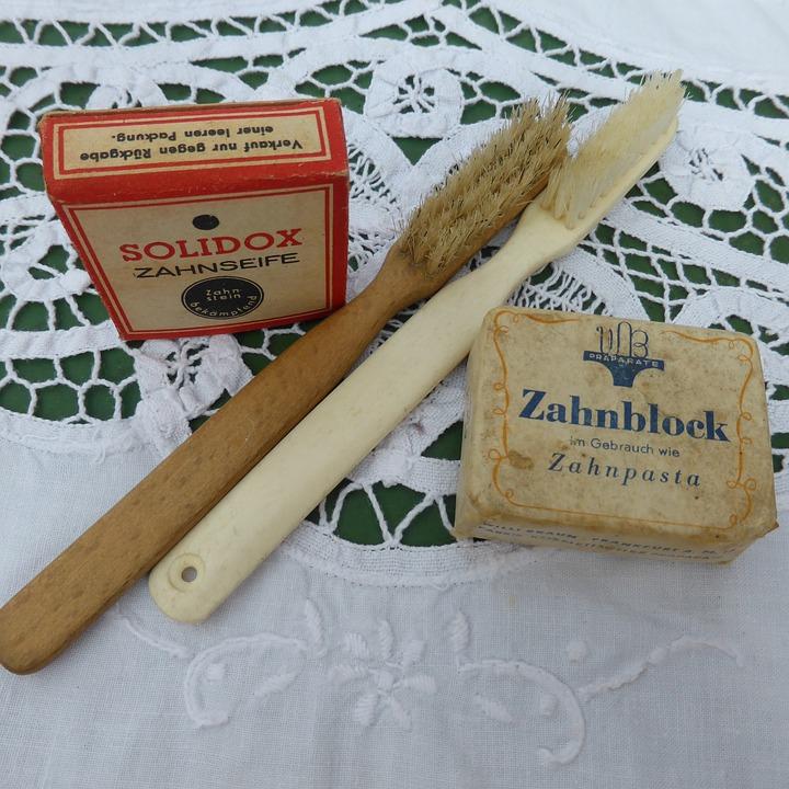Toothbrush, Antique, Brush, Bristles, Clean, Close