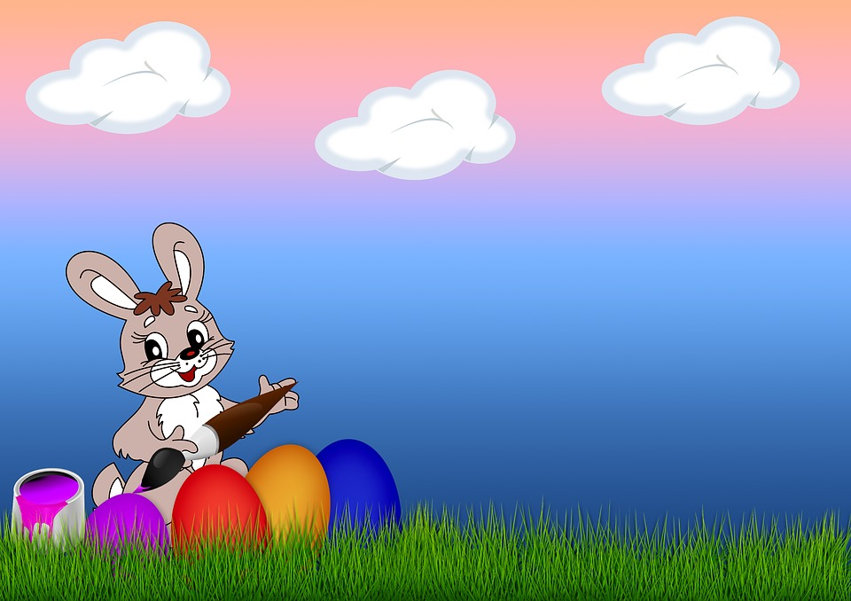 Easter, Egg, Grass, Easter Bunny, Brush, Color, Paint
