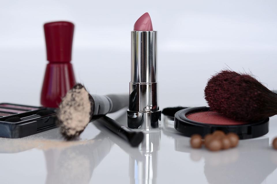 Cosmetics, Lipstick, Eye Shadow, Rouge, Brush, Make Up