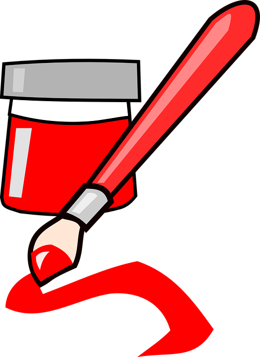 Brush, Paint, Red, Art, Ink