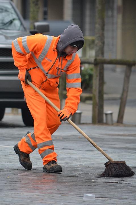 Orange, Brush, Wagner, Cleaning, People, Scavenger