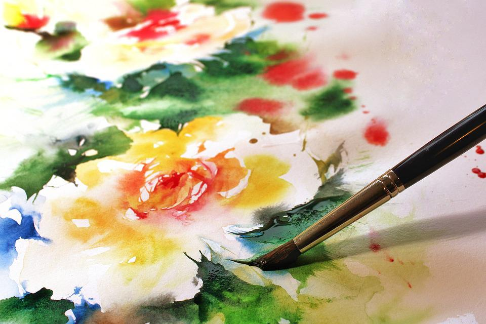 Watercolour, Brush, Embroidery, Paint, Art, Watercolor