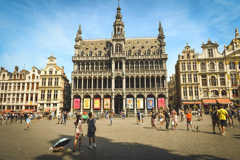 Belgium, Brussels, Town Hall, Tourism, Square