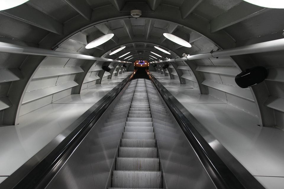 Escalator, Atomium, Brussels, Landmark