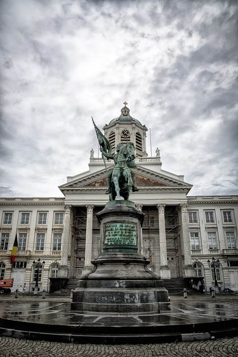 Brussels, Place Royale, Monument, Godfrey Of Bouillon