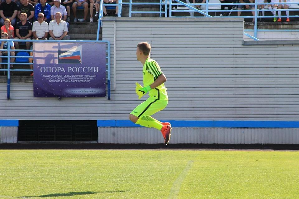Bryansk, Dynamo, Goalkeeper, Stadium, Field, Football