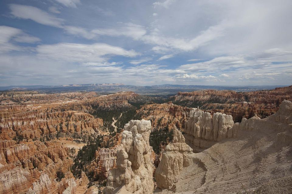 Rock Formations, Bryce Canyon National Park, Cloudy Sky