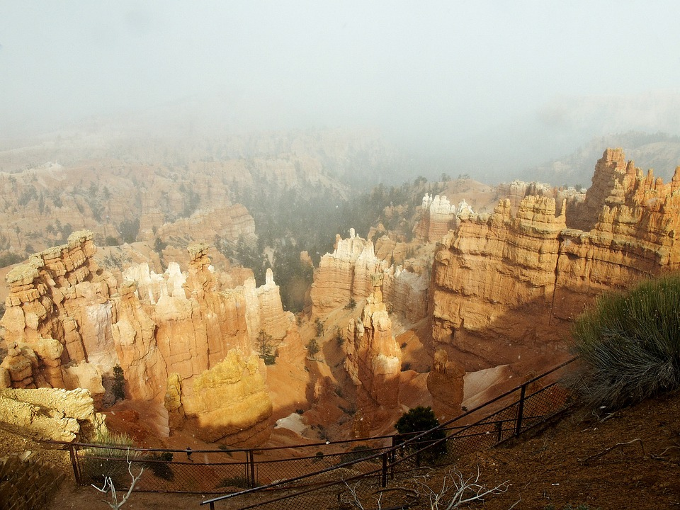 Bryce Canyon, Utah, Usa, Rocks, Landscape