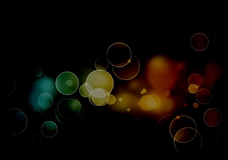 Background, Bubbles, Circles, Colors, Colorful, Dark