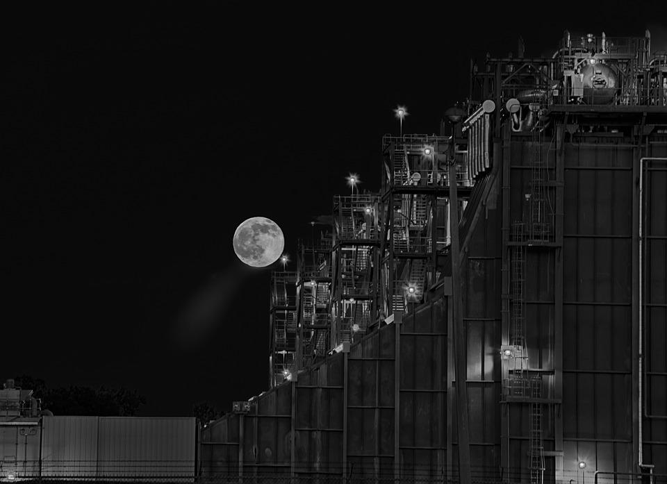 Energy, Power, Plant, Moon, Buck Moon, Black, White