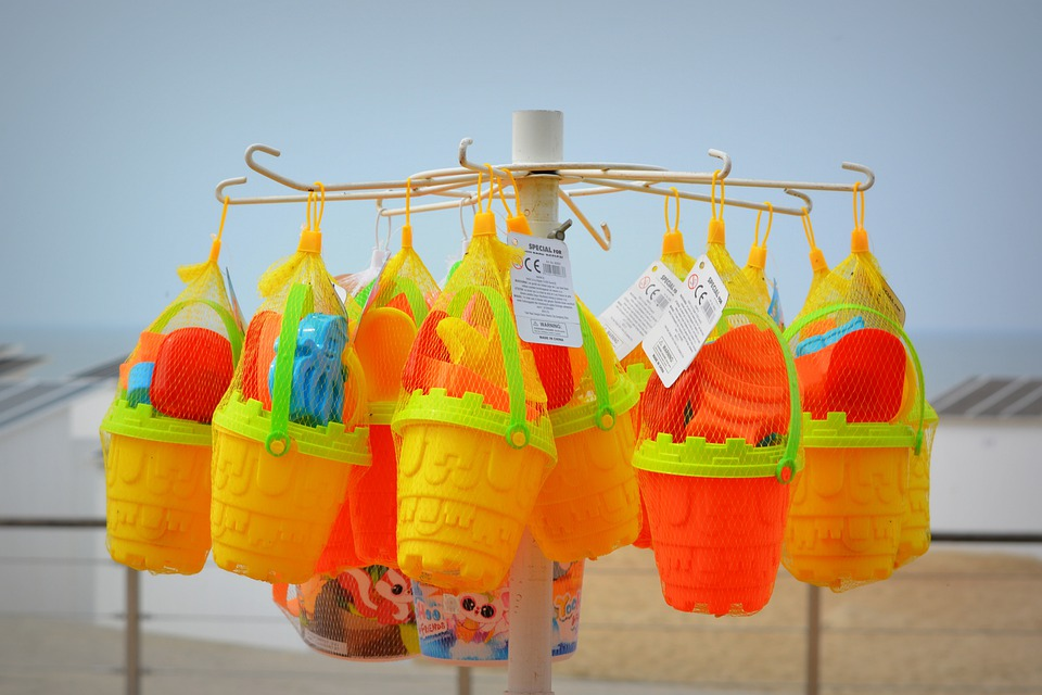 Toys, Buckets, Beach Supplies