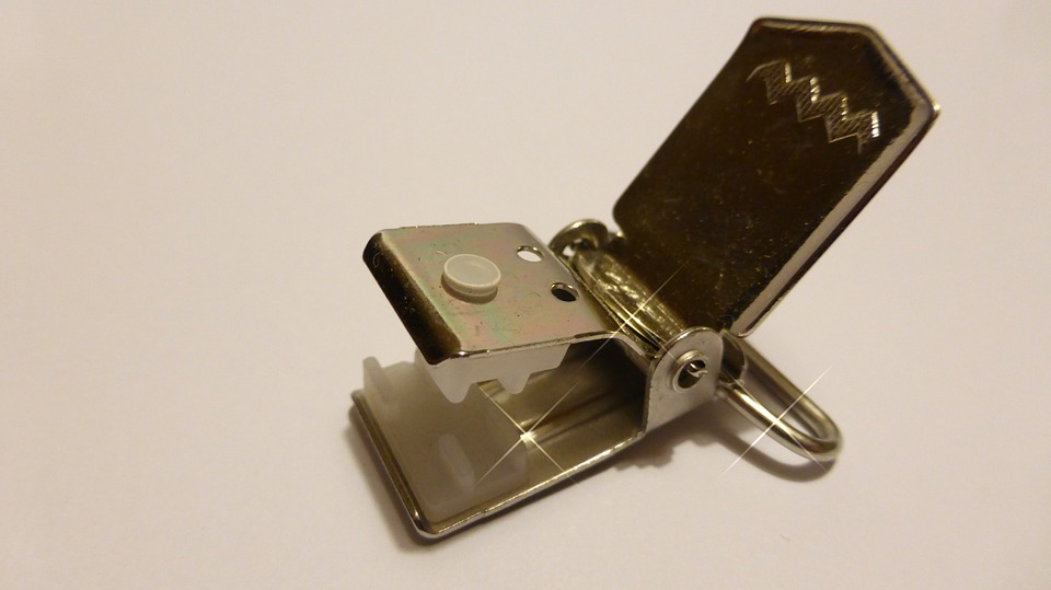 Clips, Suspenders, Keep, Mount, Buckle, Silver, Tooth