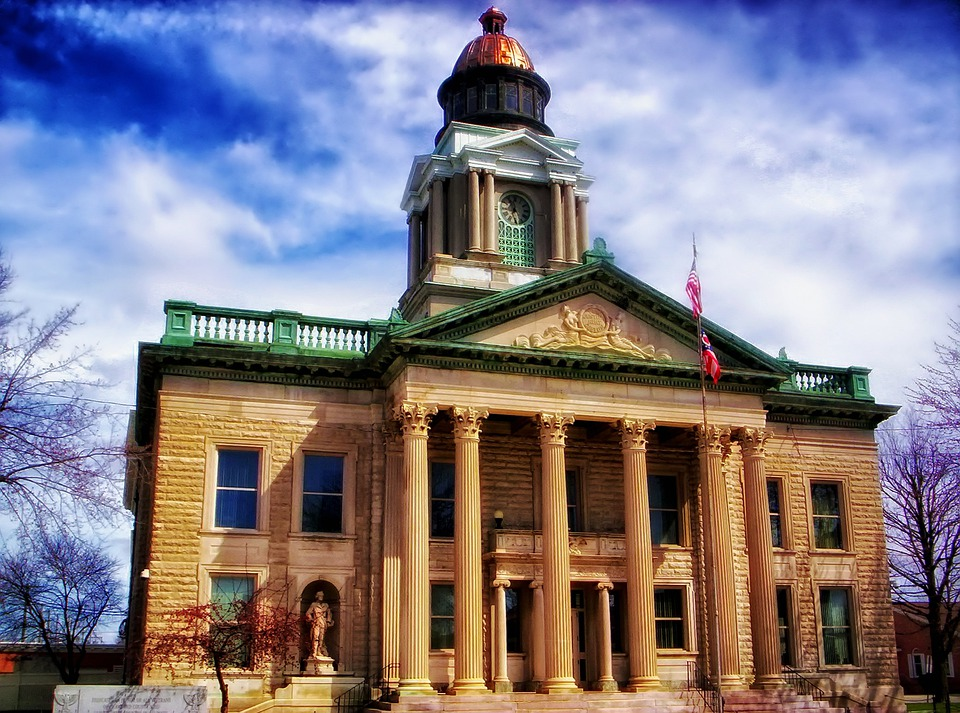 Courthouse, Bucyrus, Ohio, Law, Government, Building