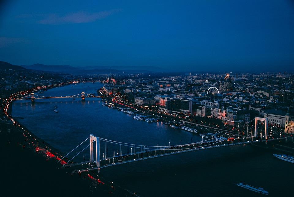 Budapest, Night, Hungary, Architecture, Danube, Lights