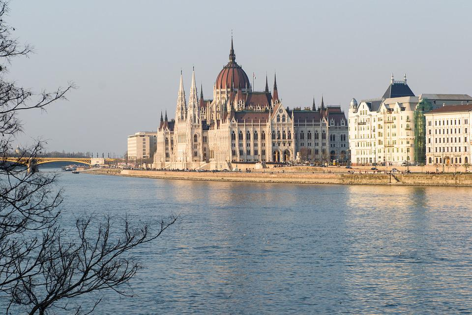 Budapest, Parliament, River, Water, Danube, Reflection