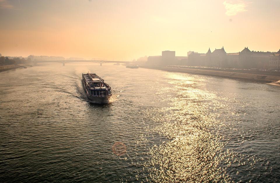 Budapest, River, Ferry, Boat, Hungary, City, Urban
