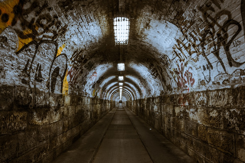 Tunnel, Underground, Underpass, Lighting, Budapest