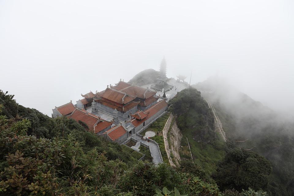 Fansipan, Vietnam, Mountains, Asia, Travel, Buddha