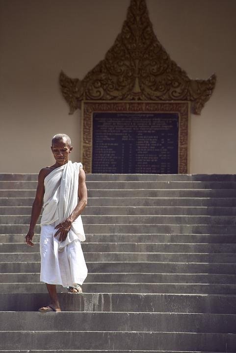 Monk, Stairs, Monastery, Buddhist, Believe, Buddha