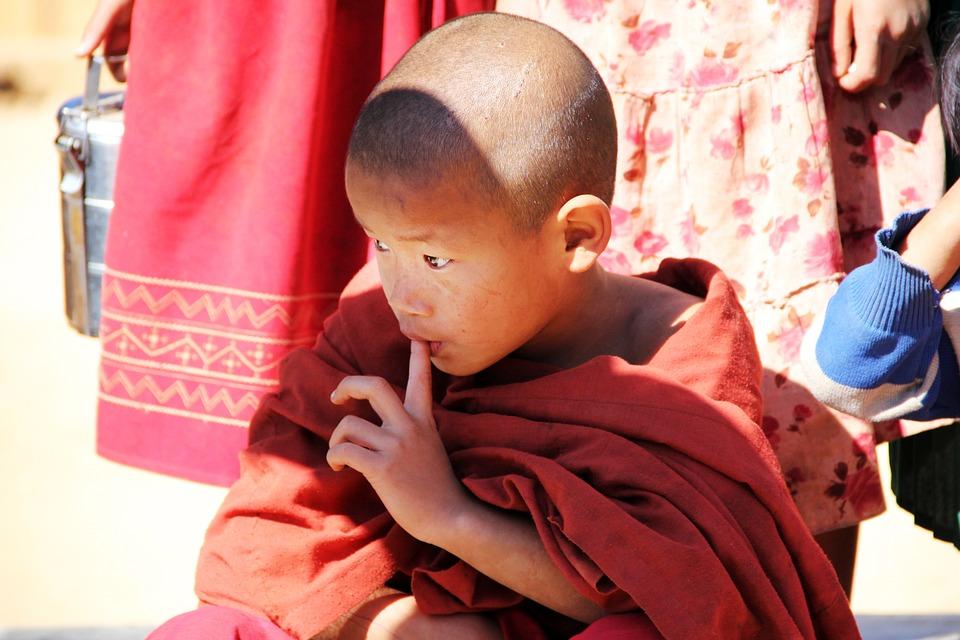 Buddha, Small Buddhist, Buddhist, Child, Boy, Bald Head