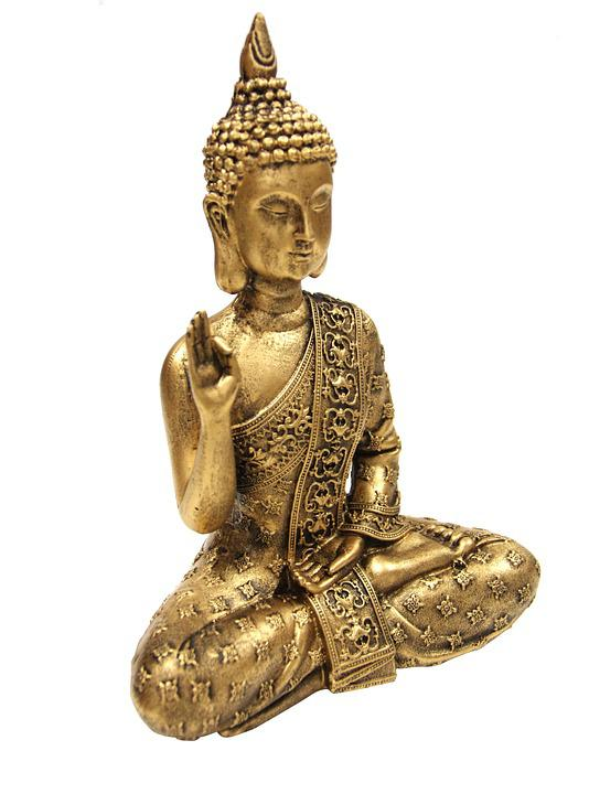Decoration, Buddha, Gold