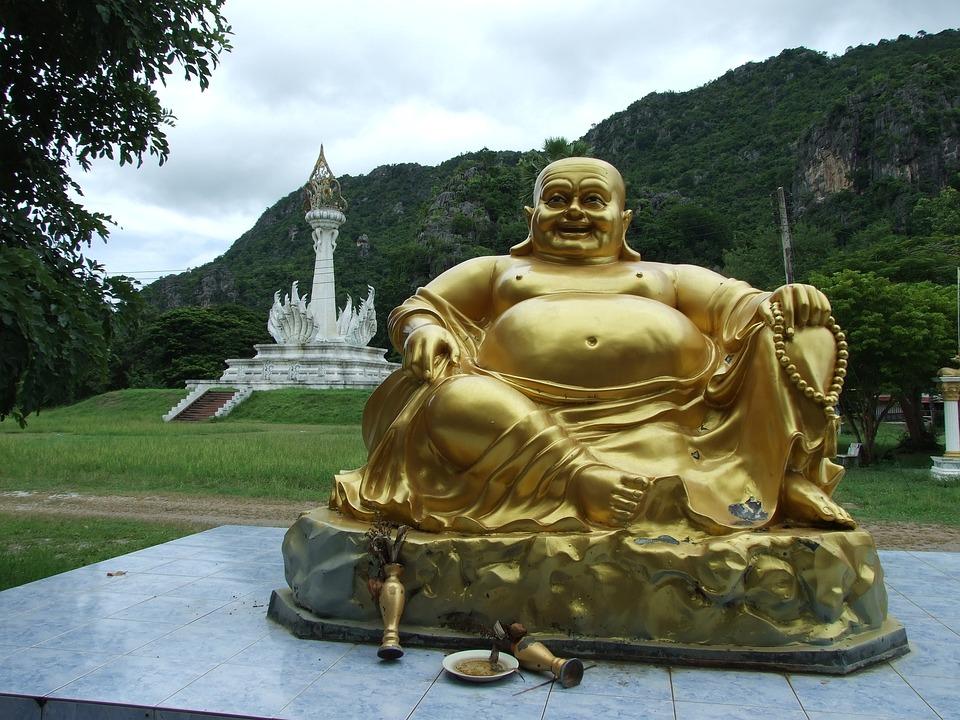 Thailand, Buddha, Gold, Asia