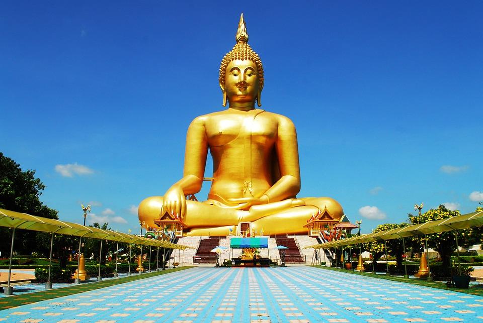 Golden, Buddha Image, Buddhism, Golden Buddha, Thai