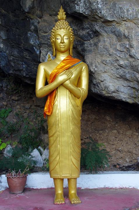Laos, Pak - Or, Buddha, Cave, Religion, Prayer, Statue