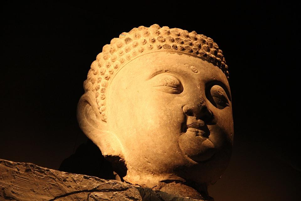 Museum, Stone Sculpture, Symbolism, Buddha, Zen