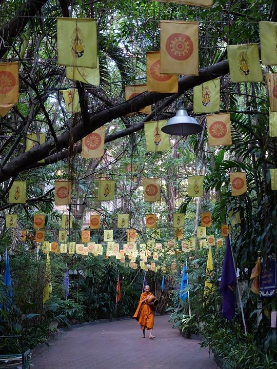 Thailand, Bangkok, Buddhist, Buddhism, Monastery, Monk