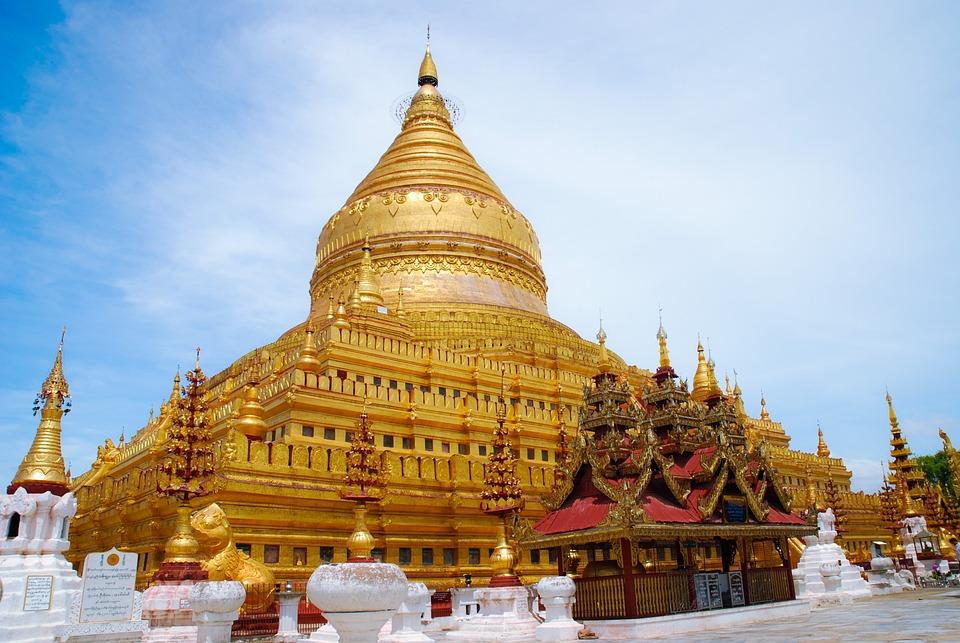 Myanmar, Temple, Buddha, Buddhism