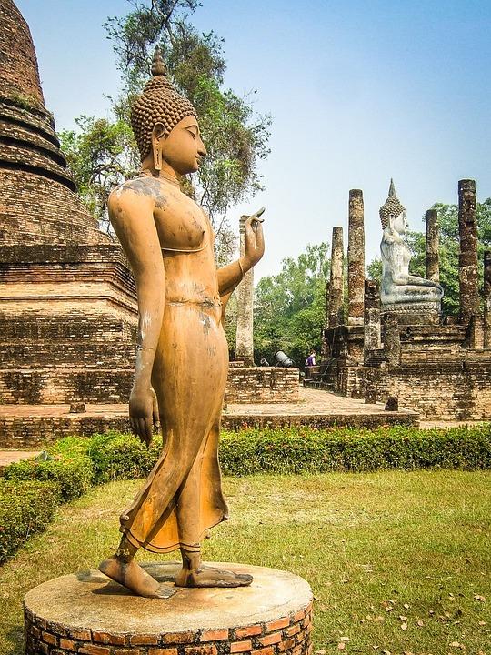 Thailand, Buddha, Statue, Temple, Asia, Buddhism